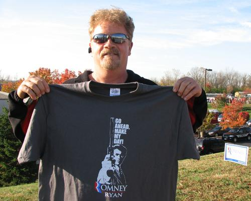 Romney supporter Billy Boles, of Greenhills, says he wants to see the end of Obamacare.