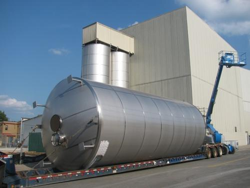 Samuel Adams Brewery in the West End is adding massive tanks for its expansion.