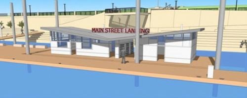 A rendering of the boat dock at Smale Riverfront Park.