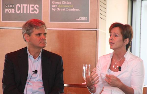Former AOL chief executive Steve Case and his wife Jean were featured speakers at Cincinnati's CEO for Cities event.