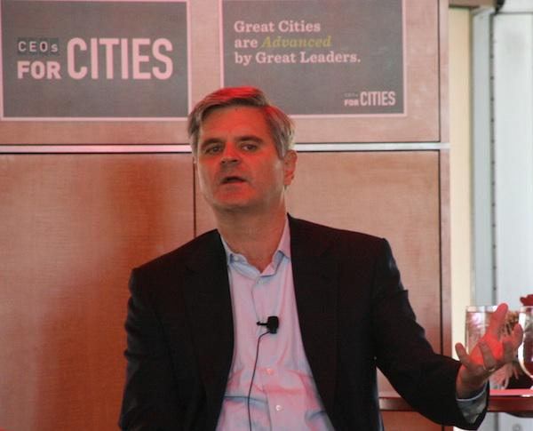 Former AOL Chief Steve Case speaks at the CEOs for Cities event.