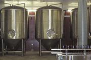 Fermenters at the Moerlein brewery. Beer stays there for two to four weeks.