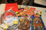 These items are all part of one meal package from St. Vincent de Paul.