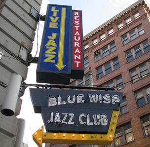 The Blue Wisp Jazz Club is located at the corner of Seventh and Race streets in downtown Cincinnati.