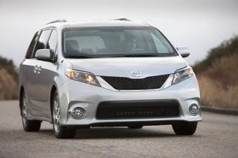 Toyota is recalling 615,000 Sienna minivans in the United States.