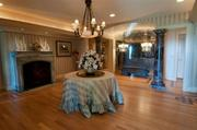 The home offers plenty of spaces to host social functions of varying size.