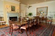 River High has two dining rooms. The one pictured above is the formal dining room.