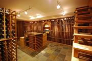 The lower level wine cellar has its own HVAC system and racks for more than 1,000 bottles.