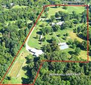 The property sits next to the Indian Hill Green Belt, 300 acres of land behind the estate.
