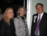 From left, Julia Meister, partner at Taft Stettinius & Hollister LLP, with Kelley Downing, president of Bartlett & Co., and David Owens, director of marketing and account executive for Full Service Networking.