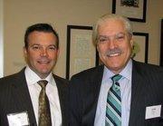 Eddie Burke, vice president of Aon Risk Solutions, and Alan Piker, managing partner for Cresa Cincinnati.