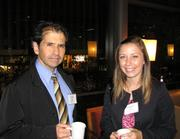 Carlos Rojas, project manager for Burgess & Niple, and Francia Harris, office specialist for Cassidy Turley