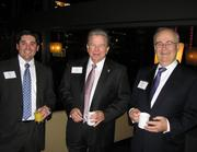 Josh Ruth, commercial banker for KeyBank; T. J. Bugg, vice president for Centennial Inc.; and Michael Gendron, partner at CFO Insight LLC.