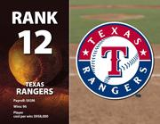 Texas' highest-paid player is Michael Young $16.2 million.