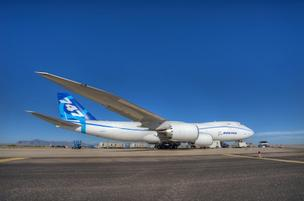 Boeing Co.'s new 747-8 freighter is powered by four GEnx engines.