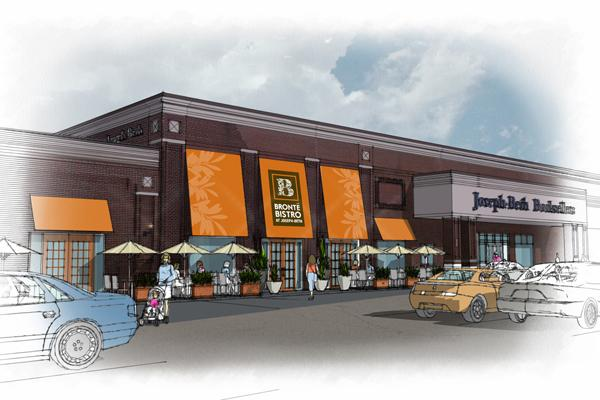 A rendering of the new exterior of the Bronte Bistro at Joseph-Beth Booksellers' Rookwood Pavilion location.