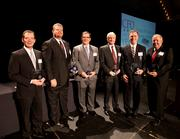 CFO of the Year award winners (from left) Robert Williams, Northern Kentucky Community Action Commission; Robert Ambach, University of Cincinnati; Douglas Arvin, Hospital division at UC Health; Tom Heintz, Aurora Casket Co.; Pete Findley, OfficeWare Inc.; and William Gale, Cintas Corp.