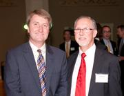 From left: Rick Hinds, UC Health (past winner); and Andy Filak, University of Cincinnati.