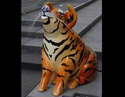 """Name: """"Chinese Tiger Pig""""Location: Fountain SquareDesigner: Lindsay Prince, Monica Namyar and the students of Beechwood SchoolSponsor: Beechwood Educational Foundation"""