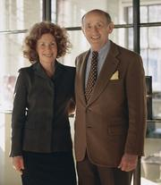 Richard Rosenthal, former owner of F&W Publishing and local arts philanthropist, with wife Lois.