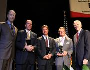 From left to right: Mark Signorelli,Cincinnati Growth Partners; William D. Borek, Sibcy Cline; Chris Tayor, Crescent Corp.; Jeff Thomas, Priority Dispatch; and  Larry Grypp, Goering Center.