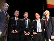 From left to right: Mark Signorelli, Cincinnati Growth Partners; Kevin Cheek, R. A. Jones; Tim Bankes, Libertas Technologies; Larry Galluzzo, Skilled Care Pharmacy; and Larry Grypp, Goering Center.