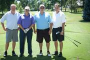 (From left to right) Chris Holtmeier; Tony Mort, Mort, White, Bushman CPAs; Bret Collins, Venturo; Mike Eckelman, PrideStaff