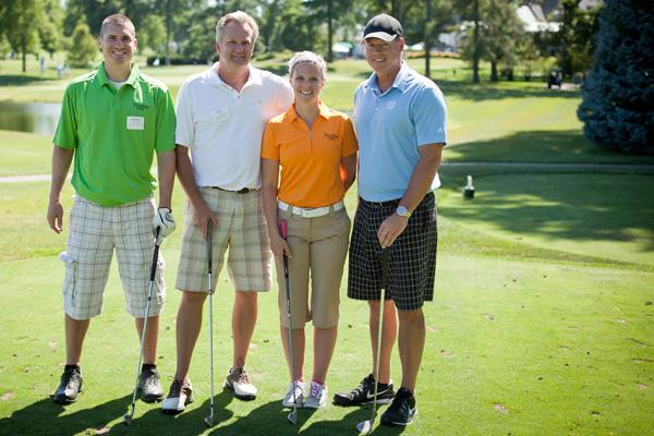 (From left to right) Anthony Hornbach, Thompson Hine LLP; Dan Dugan, Dugan & Meyers Construction Co.; Heather Hawkins, Thompson Hine LLP; Scott Gerding, Maxim Crane