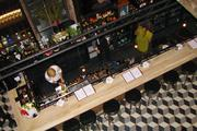 An overhead shot of the first floor bar at Igby's.
