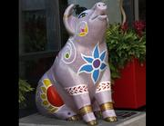 "Name: ""The Indian ElePIGephant""Location: Duke Energy Convention CenterDesigner: Rachel Zerkle Deshpande and the students of Oyler SchoolSponsor: The Carol Ann and Ralph V. Haile Jr. U.S. Bank Foundation for Oyler School"