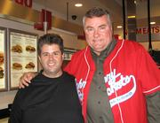 Franchisee Rick Thompson, left, and Johnny Rockets CEO John Fuller.