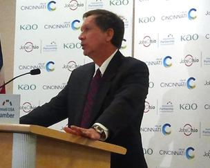 Ohio Gov. John Kasich has worked to improve the business climate in the state.