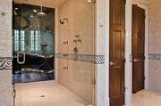 Another view of the master bath, this of the walk-in shower.