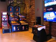 The bar has several different kinds of games for patrons to enjoy.