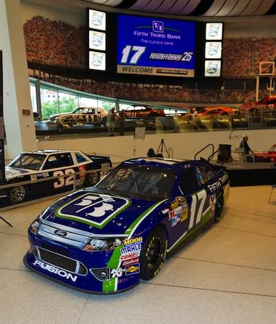 Fifth Third signed on as primary sponsor of Matt Kenseth's No. 17 Ford Fusion for four races this year in the NASCAR Sprint Cup Series.