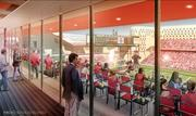 A rendering of the expansion and renovation at UC's Nippert Stadium.