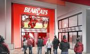 A rendering of the entrance to the club level at Nippert Stadium.