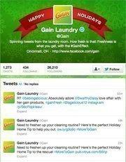 No. 13: Gain Laundry@GainMaker of detergents, dryer sheets, etc.19,053 Cincinnati-area followers