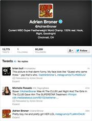 No. 5: Adrien Broner@AdrienBronerCurrent WBO Super Featherweight World Champ59,180 Cincinnati-area followers