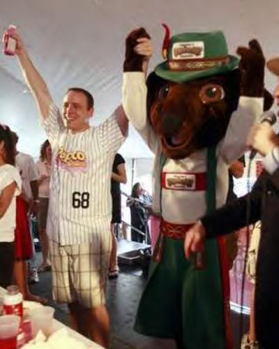 Joey Chestnut was named World Bratwurst Eating Champion in 2010 after he consumed 42 bratwurst in 10 minutes.
