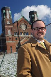 Matt Bourgeois of the Clifton Heights Community Urban Redevelopment Corp. has been working to save the Old St. George Church in Clifton Heights. The newest plan could bring a hotel and conference facility to the property.