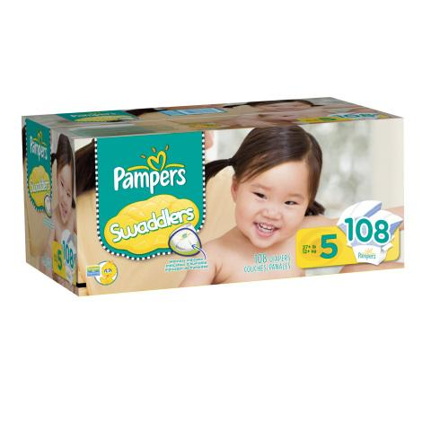 Larger sizes of Pampers Swaddlers are now available.