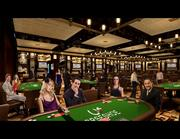 Here's the envisioned look for the completed poker room.