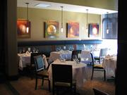 The interior of Ruth's Chris has a rich, modern feel.
