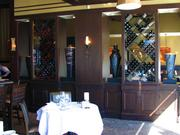 There are plenty of wine bottles throughout the restaurant.