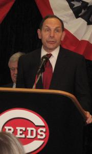 Procter & Gamble CEO Bob McDonald talked about his company's sponsorship of the Reds Urban Youth Academy.