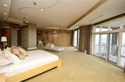 The master suite has an office, library, media area and private terrace.