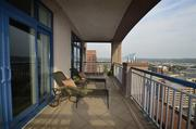 The master suite terrace with views of Northern Kentucky.