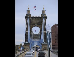 Roebling Suspension Bridge Cincinnati landmarks