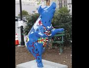 """Name: """"Shakin' Bacon""""Location: Fifth and Race streetsDesigner: Laura Campbell and the students of Reading High SchoolSponsor: The Carol Ann and RalphV. Haile Jr. U.S. Bank Foundation for Reading High School"""